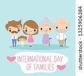 cute family cartoon character...   Shutterstock .eps vector #1325906384