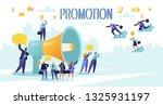 promoter speaks in big... | Shutterstock .eps vector #1325931197