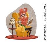 cartoon bearded hipster man... | Shutterstock .eps vector #1325936957
