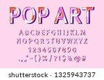 vector modern sans serif...   Shutterstock .eps vector #1325943737