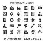 interface icon set. 30 filled... | Shutterstock .eps vector #1325954111