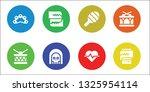 rhythm icon set. 8 filled... | Shutterstock .eps vector #1325954114