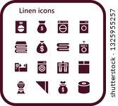 linen icon set. 16 filled linen ... | Shutterstock .eps vector #1325955257