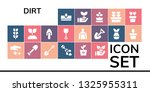 dirt icon set. 19 filled dirt... | Shutterstock .eps vector #1325955311