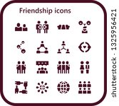friendship icon set. 16 filled... | Shutterstock .eps vector #1325956421