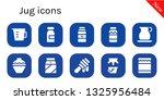 jug icon set. 10 filled jug... | Shutterstock .eps vector #1325956484