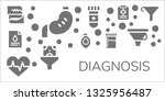 diagnosis icon set. 11 filled... | Shutterstock .eps vector #1325956487