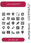 cartography icon set. 25 filled ...   Shutterstock .eps vector #1325956517