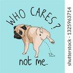 Who Cares Slogan With Cartoon...