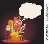 cartoon bearded hipster man... | Shutterstock .eps vector #1325970644
