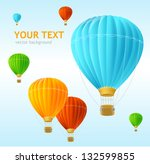 vector air ballons background | Shutterstock .eps vector #132599855