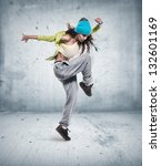 Young Woman Hip Hop Dancer Wit...
