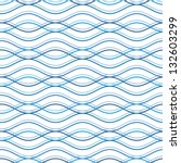 Abstract wavy seamless pattern, vector background | Shutterstock vector #132603299
