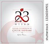 23 nisan cocuk bayrami vector... | Shutterstock .eps vector #1326034901