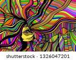 psychedelic fantasy  beautiful... | Shutterstock .eps vector #1326047201