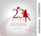 23 nisan cocuk bayrami vector... | Shutterstock .eps vector #1326060554