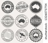 australia set of stamps. travel ... | Shutterstock .eps vector #1326073754