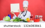 female in hat and apron knows... | Shutterstock . vector #1326083861