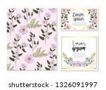 set card and label with exotic... | Shutterstock .eps vector #1326091997