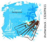 travel colorful tropical design....   Shutterstock .eps vector #132609611