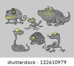 collection of reptiles and... | Shutterstock .eps vector #132610979