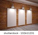 banner on wall | Shutterstock . vector #132611231