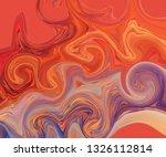 modern colorful flow poster.... | Shutterstock .eps vector #1326112814