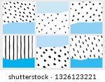 set of 6 abstract geometric...   Shutterstock .eps vector #1326123221
