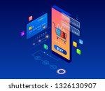 online shopping  sale ... | Shutterstock . vector #1326130907