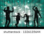 family silhouettes . abstract... | Shutterstock .eps vector #1326135644