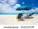 beautiful beach on anguilla... | Shutterstock . vector #132613739