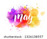 hello may handwritten modern... | Shutterstock .eps vector #1326138557