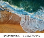 aerial view of sandy beach with ... | Shutterstock . vector #1326140447