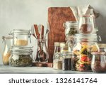 stocks or set of cereals  pasta ... | Shutterstock . vector #1326141764
