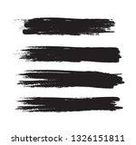 brush stroke set isolated on...   Shutterstock .eps vector #1326151811
