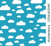 clouds sky pattern isolated on... | Shutterstock .eps vector #1326165344