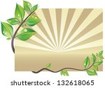 nature card decorated with... | Shutterstock .eps vector #132618065