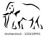 elephant   Shutterstock .eps vector #132618941