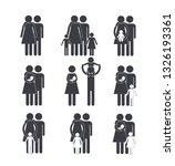 set pictogram family member... | Shutterstock .eps vector #1326193361