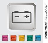 car battery. single icon.... | Shutterstock .eps vector #132620057