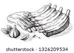 sketch hand drawn pork fried...   Shutterstock .eps vector #1326209534