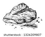 sketch hand drawn raw steak t... | Shutterstock .eps vector #1326209807
