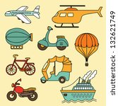 vector collection of  icon with ... | Shutterstock .eps vector #132621749