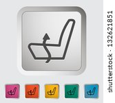 heated set low. single icon.... | Shutterstock .eps vector #132621851
