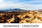 top view of rainbow mountains... | Shutterstock . vector #1326221654
