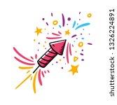 firecracker hand drawn vector... | Shutterstock .eps vector #1326224891