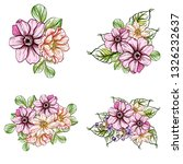 flowers set. collection of... | Shutterstock . vector #1326232637