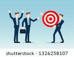 business team celebrating | Shutterstock .eps vector #1326258107