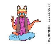 fox in hippie style vector... | Shutterstock .eps vector #1326270374