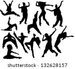 set of dancing girls | Shutterstock . vector #132628157